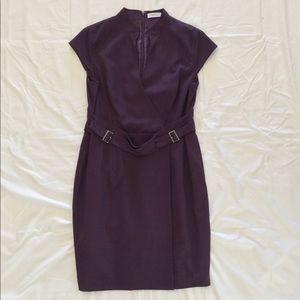 EUC Calvin Klein Mandarin collar sheath dress